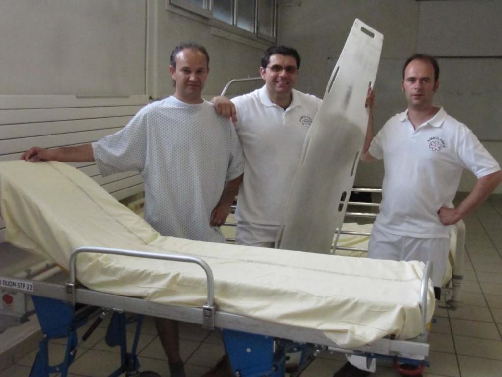 Le Rollboard pour le transfert du lit au brancard