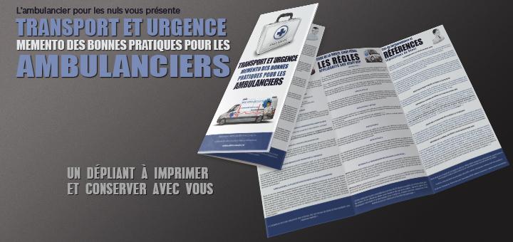 Transport et Urgence : mémento pour les ambulanciers