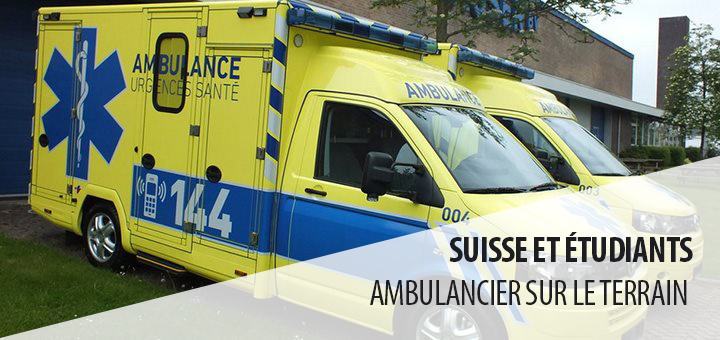 Suisse : les étudiants ambulanciers en situation