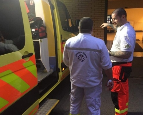 emergency medical service hongrie et bastien bodecot ambulancier français