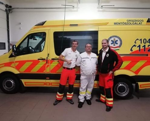 IMG 62311 Ambulancier : le site de référence L'Emergency Medical Service de Hongrie