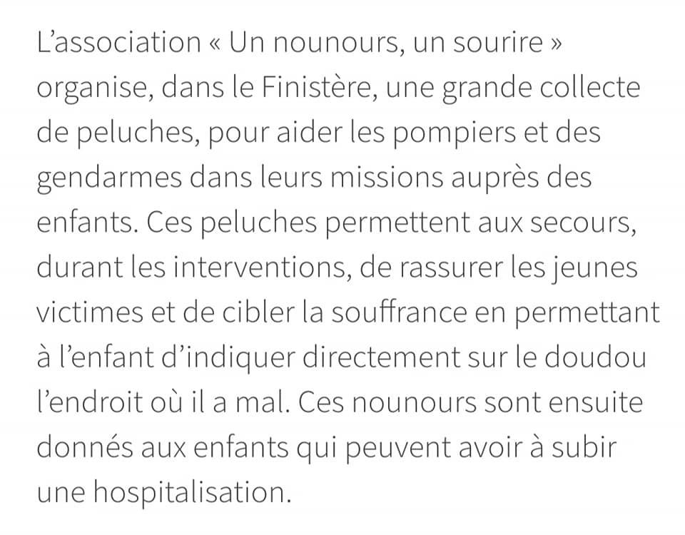 80835824 136159121170490 2218035465158656000 n Ambulancier : le site de référence Un Nounours Un Sourire