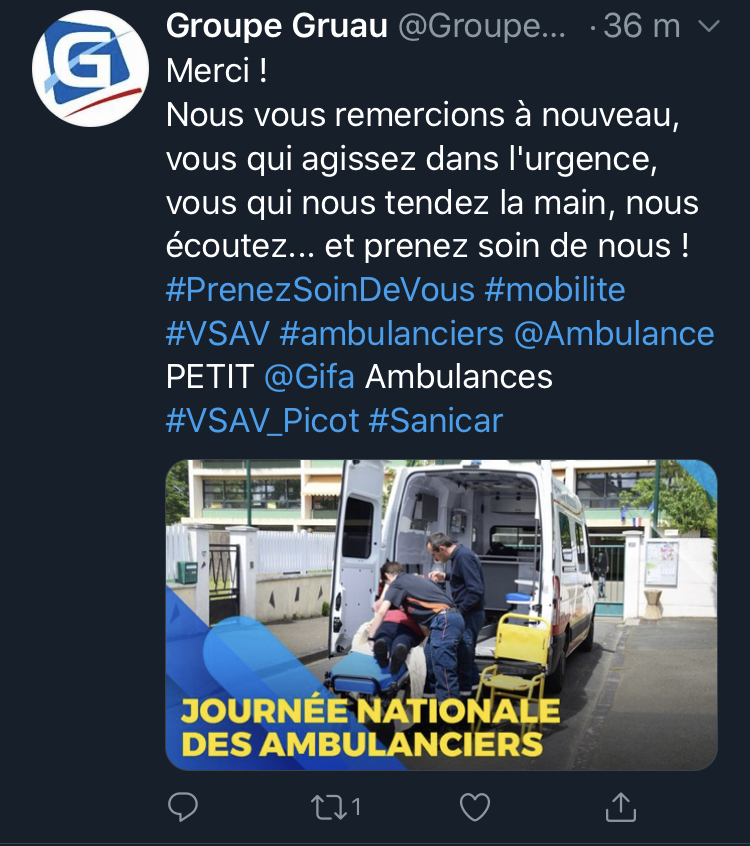 tweet 1 Ambulancier : le site de référence Journée nationale des ambulanciers le récap'