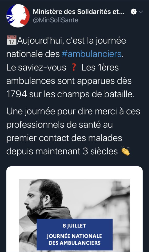 tweet 2 Ambulancier : le site de référence Journée nationale des ambulanciers le récap'